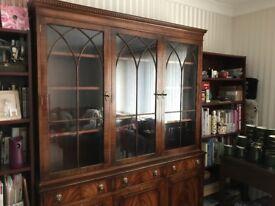 Dresser Mahogany Bevan-Funnell Reprodux display cabinet