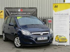 Vauxhall Zafira 1.6 i VVT 16v Exclusiv 5dr, Parking Aid + Aircon +Long Mot