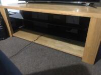 Heavy Solid Oak Tv Bench