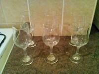 6 pretty stem glasses