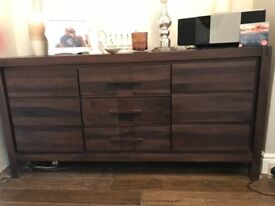 Sideboard in dark french wood