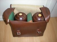 vintage lawn bowls by lawries of glasgow set of four size 5