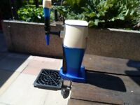 Beer pump Tetleys with drip tray/grid/frame in good clean condition