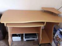 Computer Desk - Heavy Duty Professional Desk in Beach colour