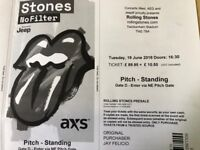 2 Tickets Rolling Stones. Twickenham Stadium London 19 June.