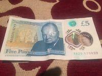 £5 note AA serial number