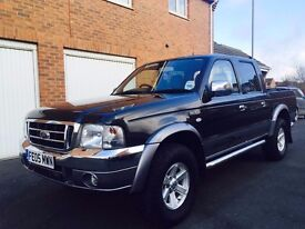 2005 05 Ford Ranger XLT Thunder 2.5 Turbo Diesel 4x4 Full Mot not l200 navara pick up hilux