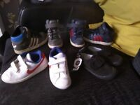 Boys trainers and pumps child size 9