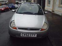 Ford Ka for sale. 1299cc Petrol Manual Hatchback. Bodywork needs attention. £250 ono.