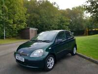 TOYOTA YARIS AUTOMATIC 5DOOR ONLY 19000 WARRANTED MILES 2LADY OWNERS 9SERVICES EXCELLENT CONDITION