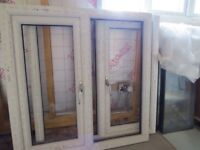 2 X Antracite grey UPVC double glazed windows - NEW