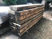 Oak beams - seasoned timber. No rot, no wood worm. Clean timber.