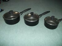 set of 3 teflon non stick pans pans
