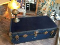 Vintage Chest Trunk Coffee Table storage