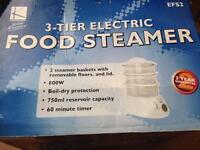 Electric food steamer (3 tier) new