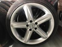 """Mercedes 18"""" genuine staggered alloys tyres"""