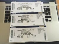 ANTHONY JOSHUA VS EROIC MOLINA x 3 TICKETS IN HAND