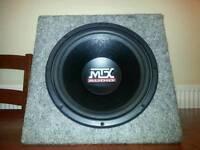 """MTX AUDIO 12"""" SUBWOOFER/BASS BOX"""
