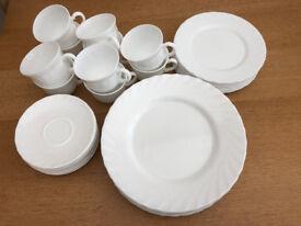 40 Piece White Diner Set
