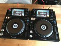 2x Pioneer XDJ 1000 Pair DJ Decks ( CDJ 2000 Nexus DJM 900 )