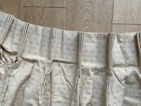 Pair triple pleat curtains, tie backs and King size bed Cover