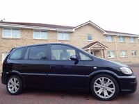 12 MONTHS WARRANTY! (2005) VAUXHALL ZAFIRA GSi TURBO MPV 7 SEATER BLACK- Low Mileage- FSH (8 Stamps)