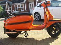 Scomadi TL125 (Lambretta lookalike) 170 kit, PM exhaust etc, used for sale  Barry, Vale of Glamorgan