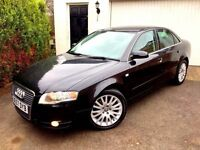 **1 PREV OWNER** 2007 AUDI A4 SE TDI 140 6 SPEED MANUAL BLACK 5 DOOR SALOON