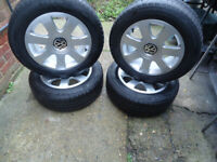 4x16 VW GENUINE Alloys Wheels and Winter TYRES VW Caddy T- 4 Passat GOLF SARAN