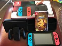 Nintendo Switch console with Rayman Legends Gane