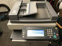 Konica Minolta bizhub C252 print fax scan and Ideal 3915 electric guillotine