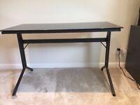 Computer Desk - Black Glass