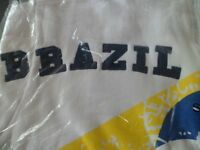 mens xl brazil zip up top new