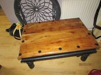 Solid wood beautiful vintage coffee table