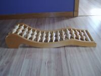 massaging hand crafted wooden rollers- back rack.