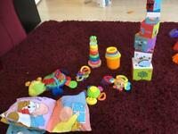 Selection of first baby toys
