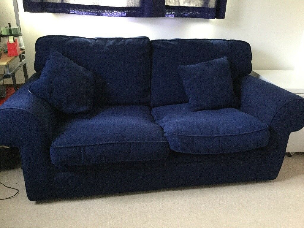 Navy Blue Sofa Bed   excellent condition   in Fleet ...