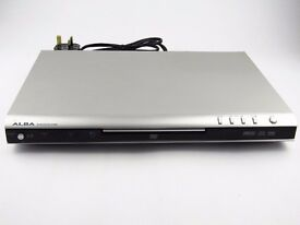 ** BARGAIN ** New Silver Slim ALBA DVD/CD Player + Alba Remote & Power Lead - Fully Working Order