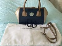 WILNELIA FORSYTH Leather handbag