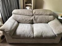 DFS Soft Chunky Cord 3 Seater Sofa in Beige/Mink