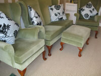 Parker knoll 2 seater + 2 arm chairs + 1 footstool.Cambridgeshire