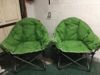 Crusader Comfort Extra Padded Folding Tub Chair x2