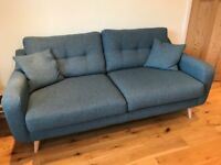Only £500 ono. Teal Sofa & chair from Barker & Stonehouse. One year old. Perfect condition