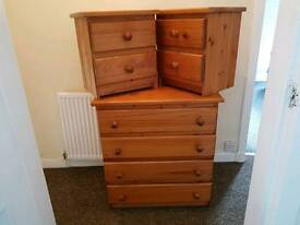 Pine bedroom drawers