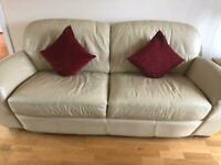Leather Sofa 3 seater Cream