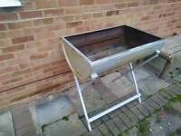 Steel BBQ metal drum and stand