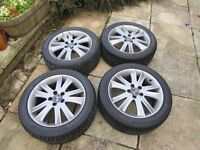 Saab 93 (95) original Anniversary Ronal Alloy wheels 17 with good tyres, nice condition