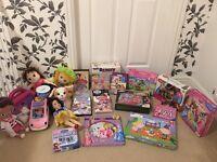 Young Girl's Toy Bundle Doll, Disney Princess Jigsaws Book Palace Pets DVDs Doc McStuffins Sofia 1st