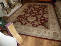Very large (over 11ft long and nearly 7ft wide) Persian style rug from Viscount. Clean, used cond.