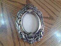 Carved frame,vintage,lime plaster,Oval shape,8 cm X 6 cm picture or oil painting